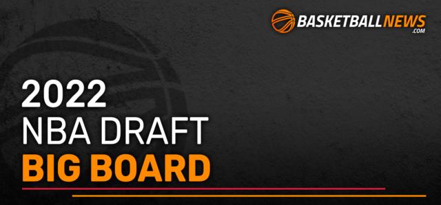 BasketballNews.com's 2022 NBA Draft Big Board
