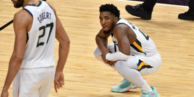 Donovan Mitchell, Rudy Gobert criticize officiating following loss to 76ers