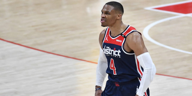 Westbrook records first 35-point, 20-assist triple-double in NBA history