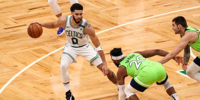 Jayson Tatum's career-high 53 helps Celtics top T-Wolves, 145-136