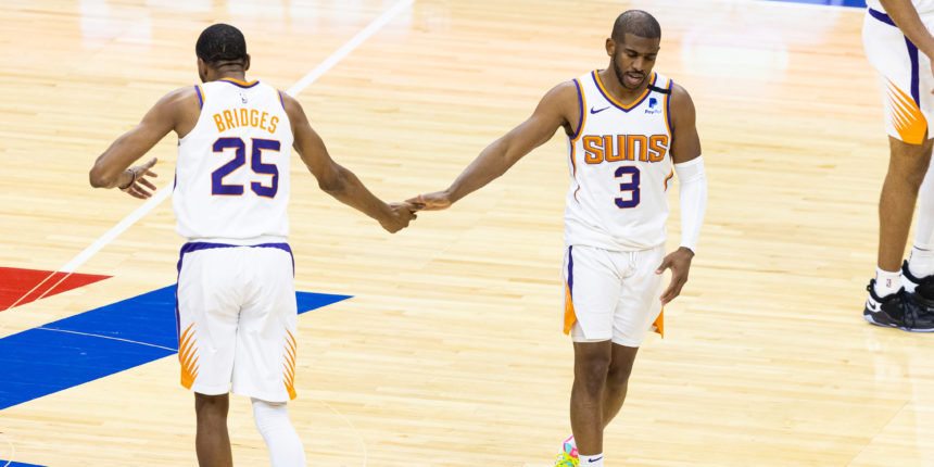 Suns survive heave from Joel Embiid in 116-113 win over 76ers