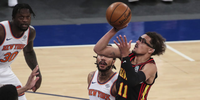 Hawks' Trae Young out against Heat, Bucks with left ankle sprain