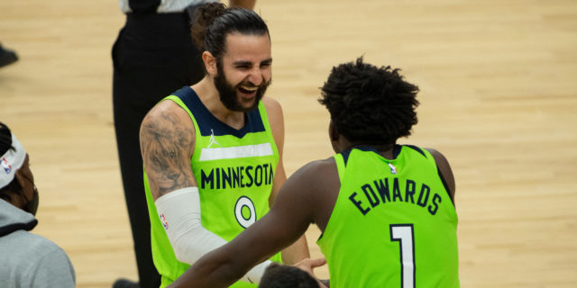 Rubio, Edwards lead Wolves to 126-114 win over Warriors