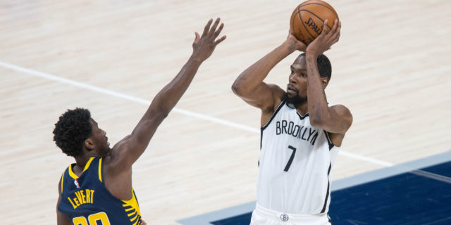 Durant scores 42, Nets torch depleted Pacers 130-113