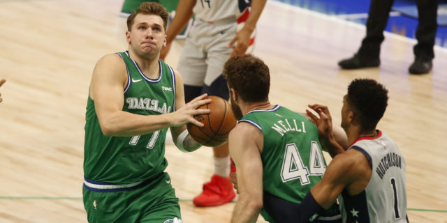 Luka Doncic's 31-20-12 triple-double helps Mavs beat Wizards 125-124