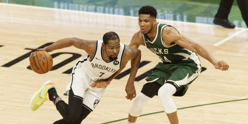 Giannis, Durant sizzle, Bucks edge Nets 117-114 in battle of East powers