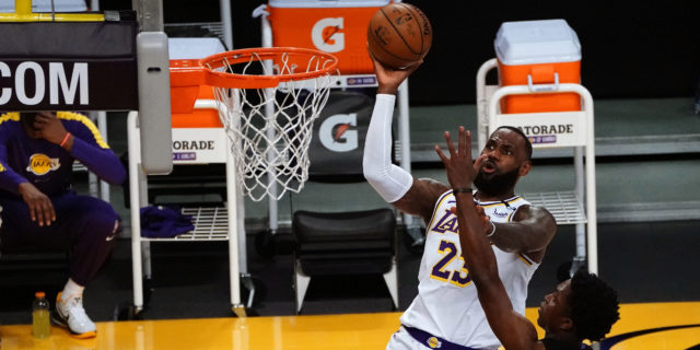 LeBron James exits game with right ankle injury