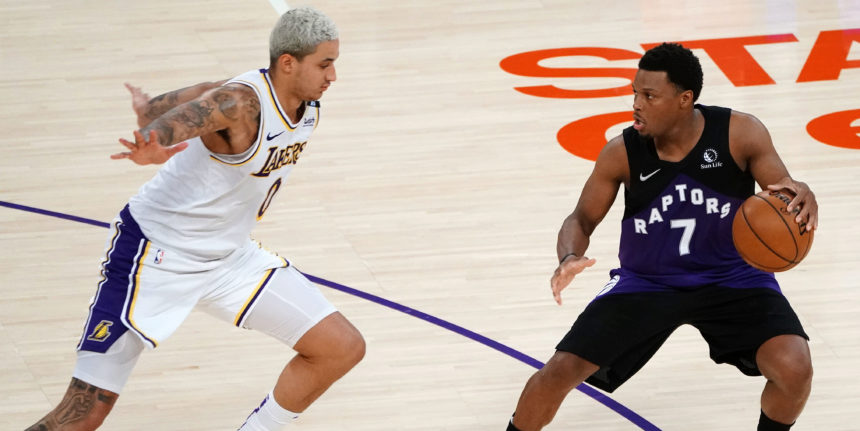 Lowry leads depleted Raptors past Lakers; LeBron exits early