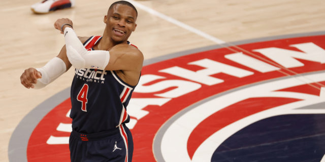 Westbrook posts 21 rebounds and 24 assists, Wizards beat Pacers 154-141