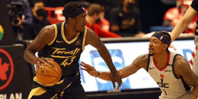 In pivotal game, Wizards edge Raptors in OT despite Siakam's career high-tying 44