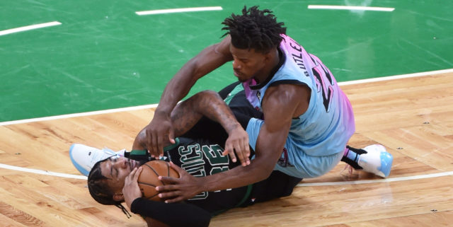 Jimmy Butler leads the way, Heat hold off Celtics in playoff-positioning win