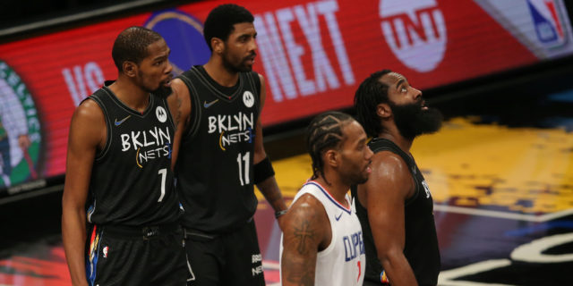 Nets' 'Big Three' to start together Saturday for first time since Feb. 13