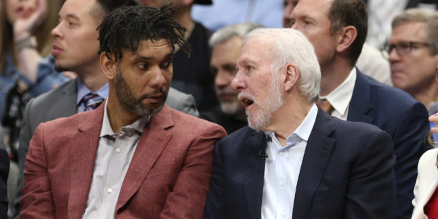 Gregg Popovich misses game to attend Tim Duncan's Hall-of-Fame ceremony