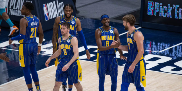 Sabonis leads Pacers past Hornets 144-117 in play-in round