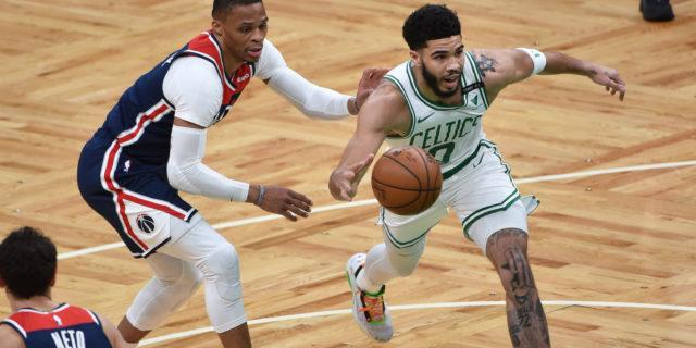 Tatum scores 50, Celtics beat Wizards 118-100 in play-in