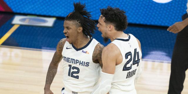 Ja Morant, Grizzlies beat Warriors in OT, advance to face Jazz