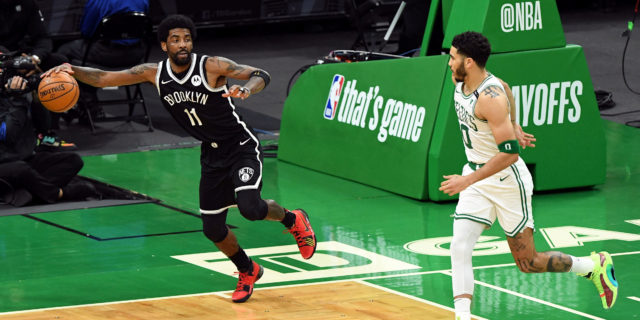 NBA players react to Kyrie Irving stepping on Celtics' logo