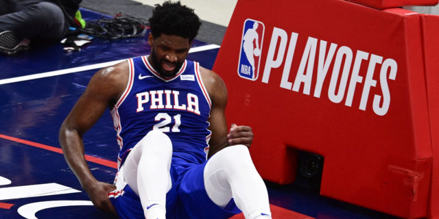 Joel Embiid doubtful for Game 5 vs. Wizards due to knee injury