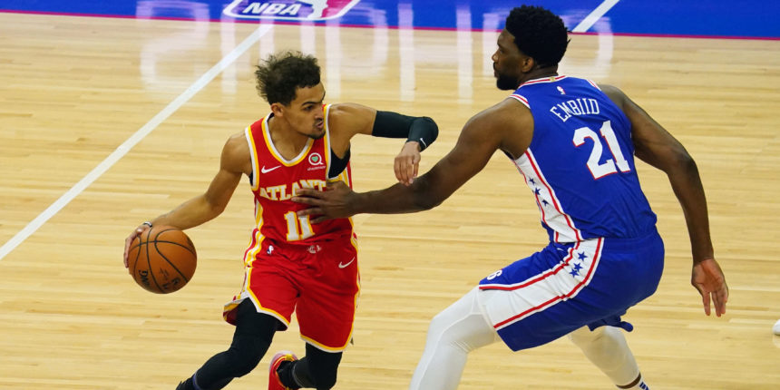 Joel Embiid has met his theatrical match in Trae Young