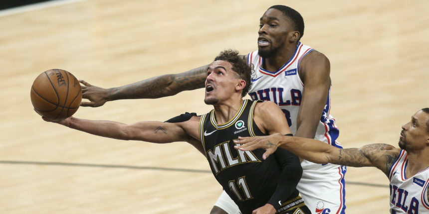 Trae Young leads Hawks' rally past Sixers with Joel Embiid hurting