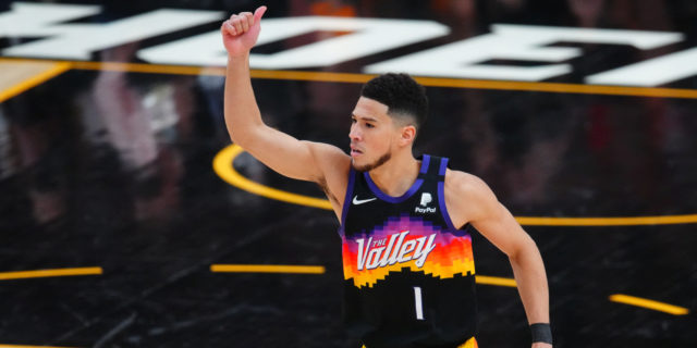 Devin Booker gets first playoff triple-double, Suns beat Clippers 120-114