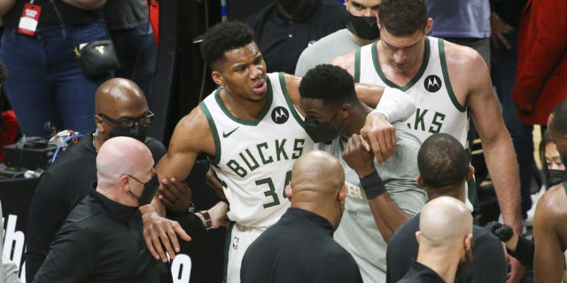 Giannis Antetokounmpo upgraded to questionable for NBA Finals Game 1