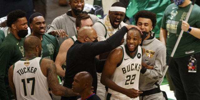 Khris Middleton sends Bucks past Suns to tie NBA Finals at 2-2