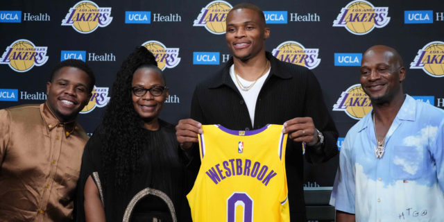 Russell Westbrook's MVP odds range from 25-1 to 85-1
