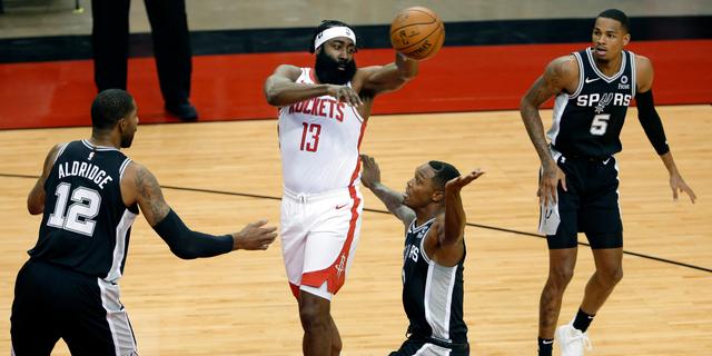James Harden makes preseason debut with Rockets