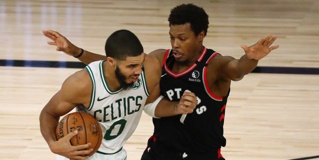 Raptors beat Celtics 100-93, even series