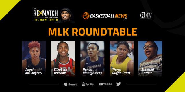 MLK Panel: Angel McCoughtry, Elizabeth Williams, Renee Montgomery, Tierra Ruffin-Pratt
