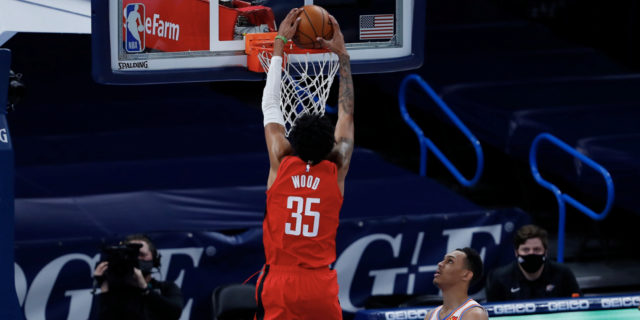 Rockets' Christian Wood (ankle sprain) to be re-evaluated weekly