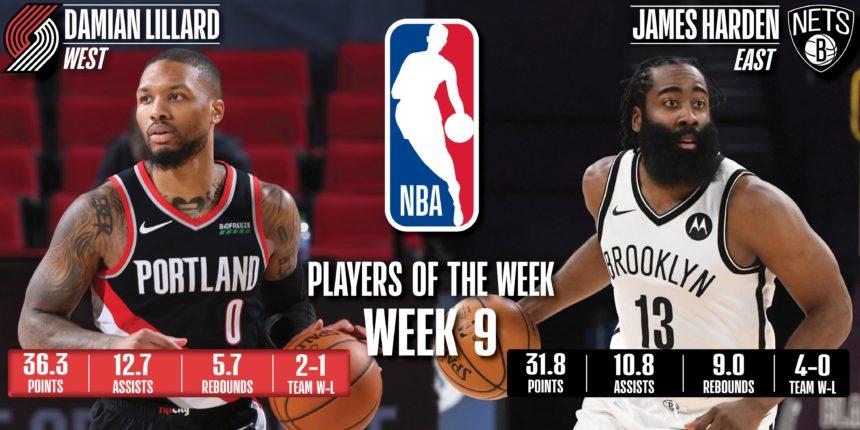 Lillard, Harden earn NBA Player of the Week honors for Feb. 15-21