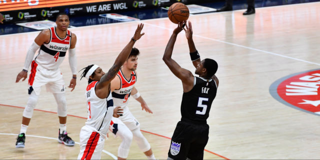Fox hits game-winner over Beal, Kings beat Wizards 121-119