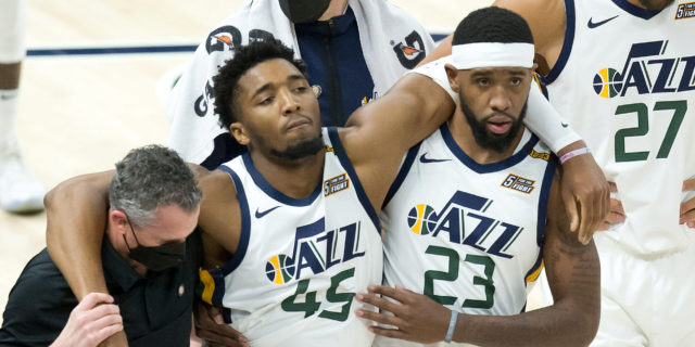 Donovan Mitchell leaves game Friday with ankle sprain, X-rays negative