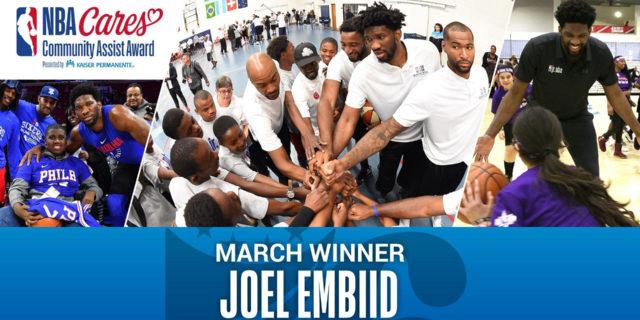 Joel Embiid receives March NBA Cares Community Assist award