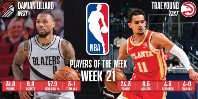 Trae Young, Damian Lillard named NBA Players of the Week