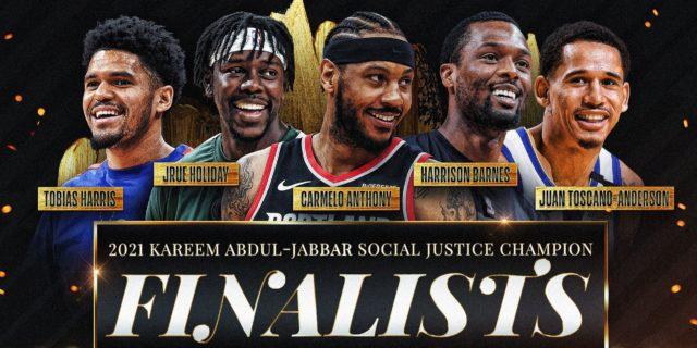 NBA shares finalists for Kareem Abdul-Jabbar Social Justice Champion award