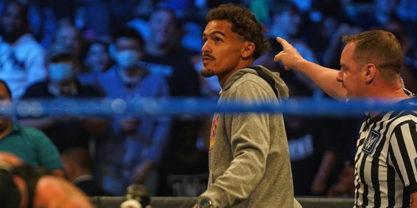 Trae Young back at MSG — this time playing a wrestling heel